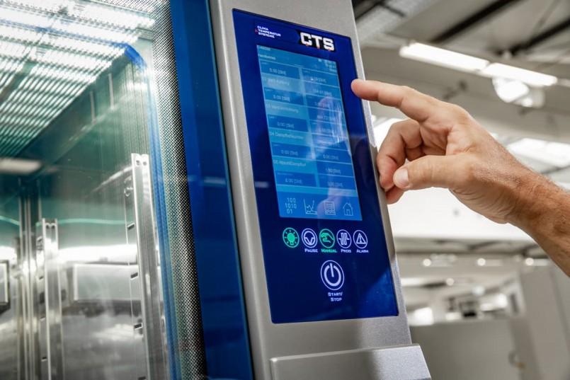 Aktuelles Touch-Display der Geräte von CTS