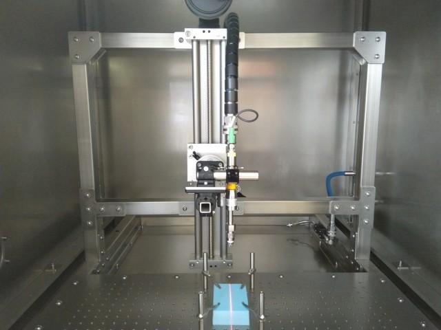 Höhenverstellbare Düse einer Druckwasserstrahlkammer