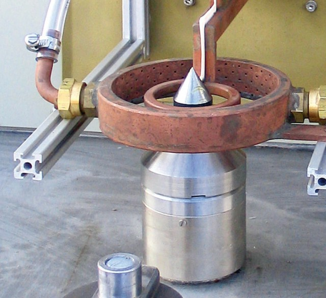 Ringspule mit Wassersprühkranz